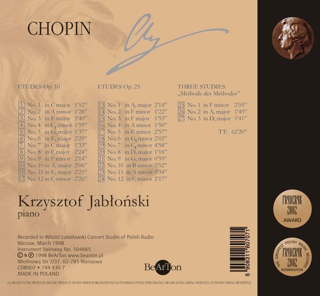 Chopin - Scherza Wariacje Berceuse V4 CDB006 WNA