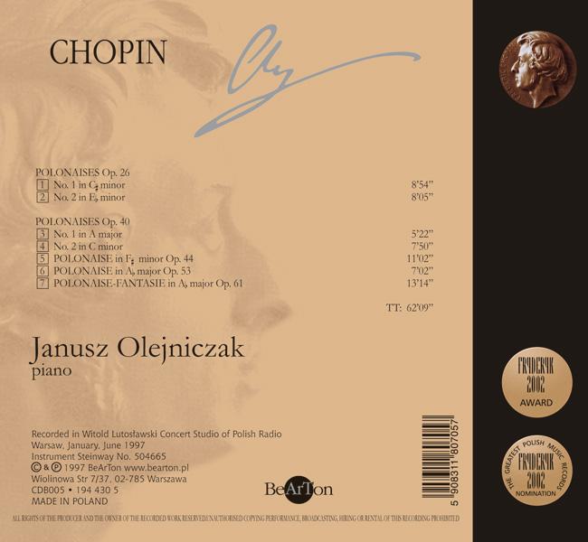 Chopin Polonezy - Janusz Olejniczak - Bearton
