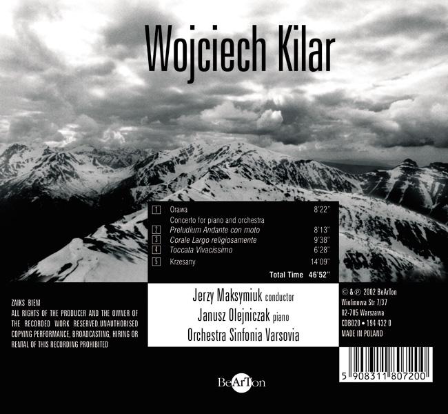 Wojciech Kilar CDB020 PMP